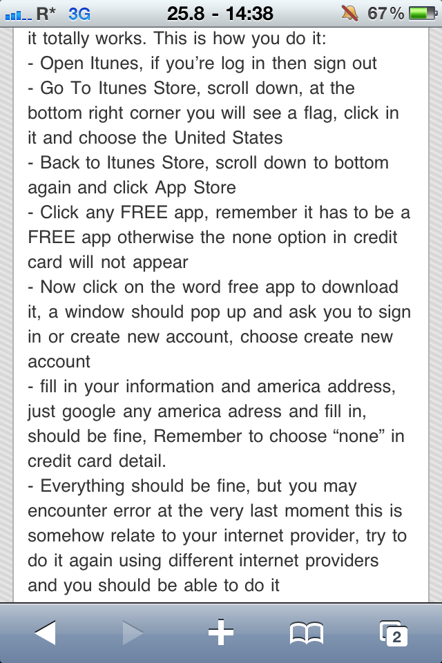 How to have a US iTunes account outside of the United States for